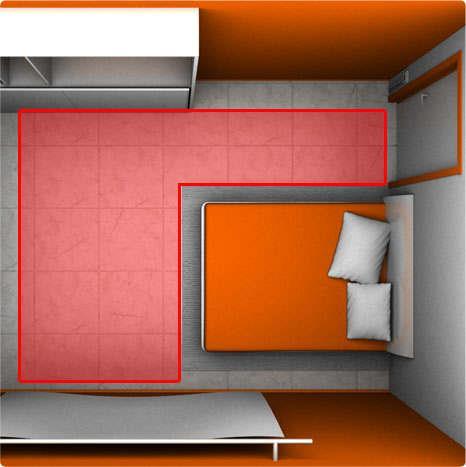 Монтаж теплого пола с учетом мебели