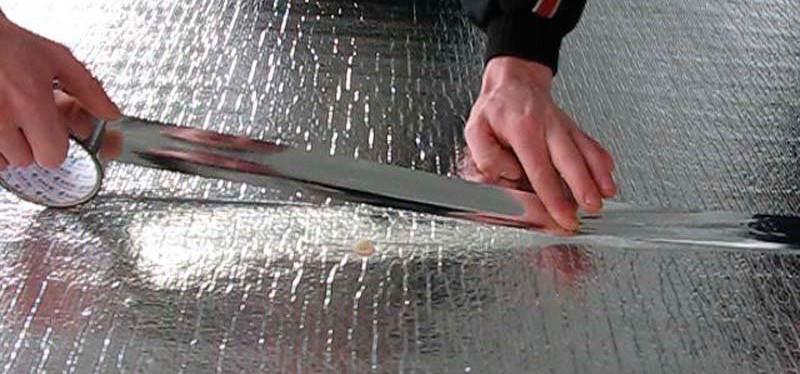 Фольгированая теплоизоляция под теплый пол