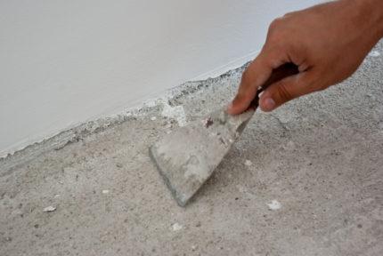 Выравнивание основания под инфракрасный теплый пол