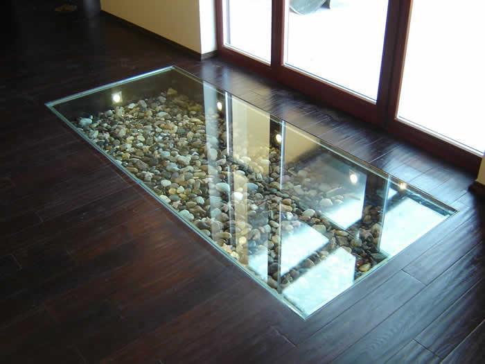 стекляные полы