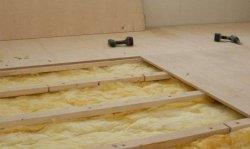 Монтаж фанеры на лаги или на балки перекрытия