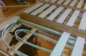 теплые полы по деревянной основе
