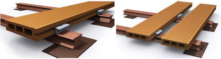 Деревянное напольное покрытие для террасы. Настил из древесно-полимерного композита