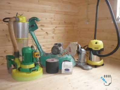 Машины для шлифования деревянного пола