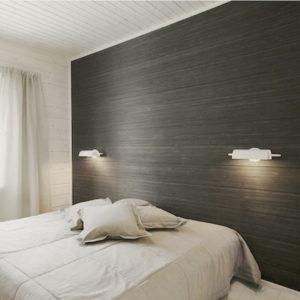 Пример крепления ламината на стену в спальне