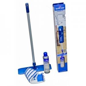 Жидкость и швабра для ухода за ламинатом разработаны с учетом специфики этого вида покрытия