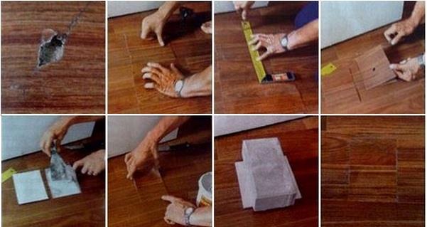 ремонт линолеума своими руками
