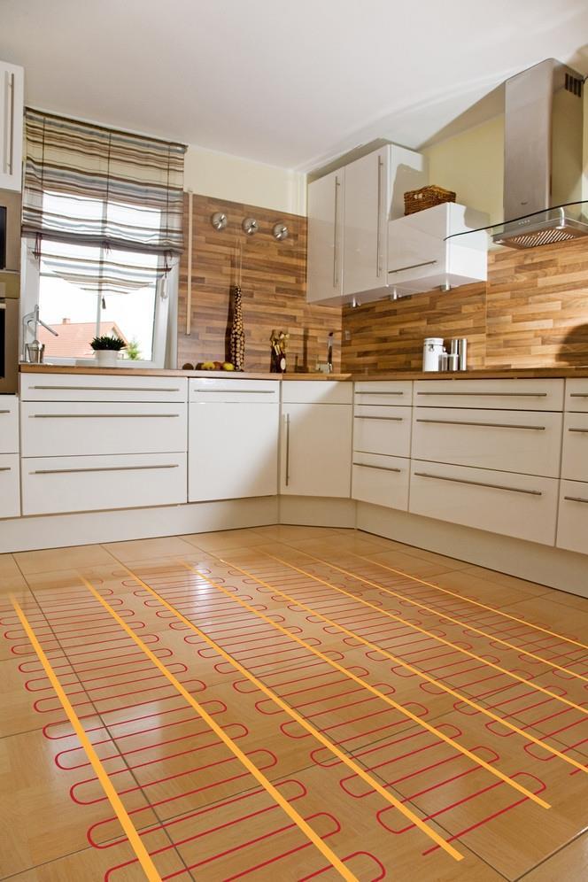 кухня с теплый полом