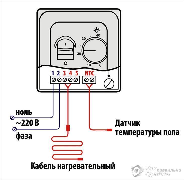 Подключение термодатчика