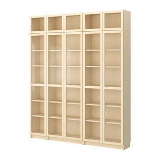 Фото – книжный мебельный шкаф из древесины березы