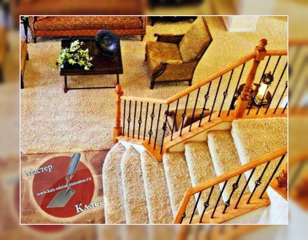 ковролин на лестницу своими руками