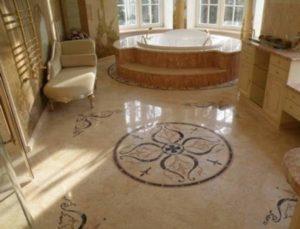 Каменная плита пола для ванной