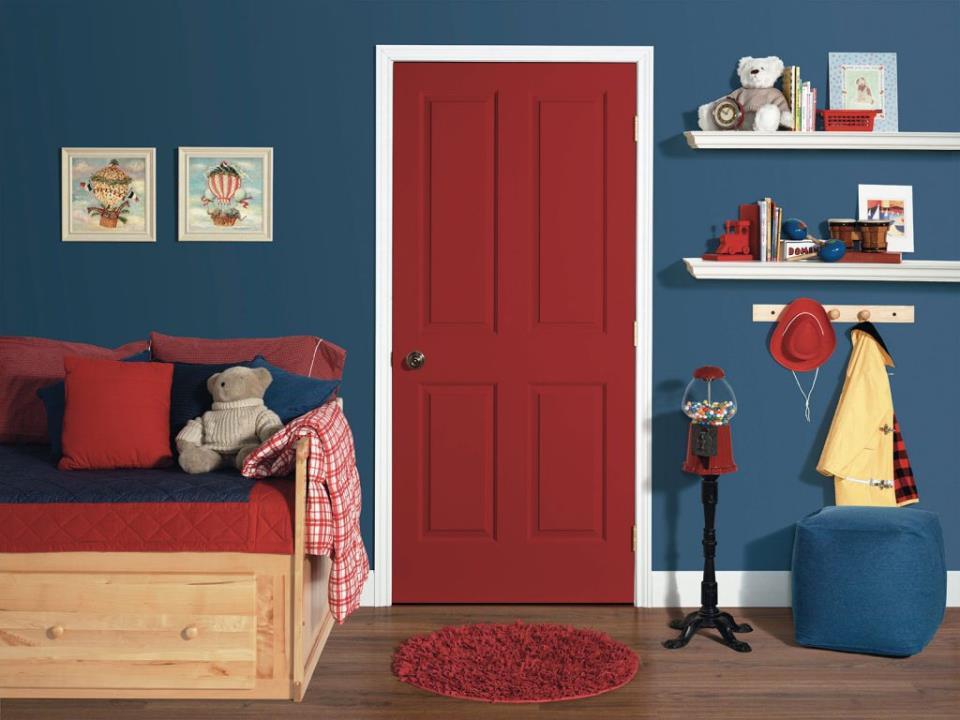 Цвет дверей для детской