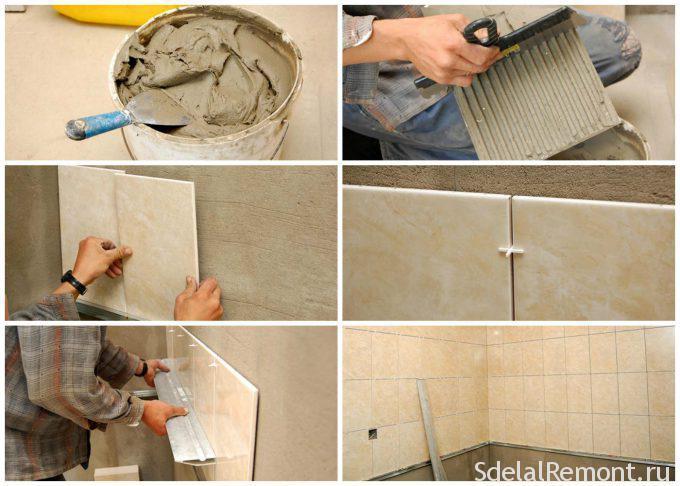 инструкция по укладки плитки на стену