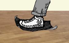 Шлифовка паркета наждачкой ногами