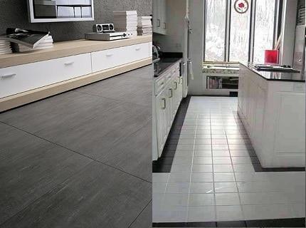 Выбрать керамогранит или плитку для кухонного пола нелегко, учитывая достоинства обоих видов покрытия