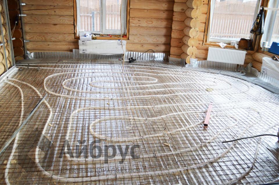 Фото правильной укладки теплого пола мастерами компании Айбрус