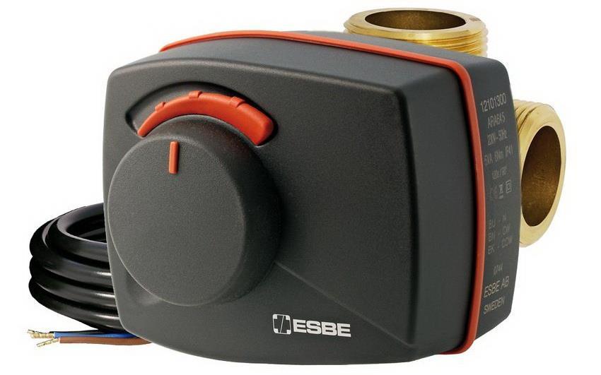 Электропривод позволяет автоматизировать работу трехходового клапана для отопления