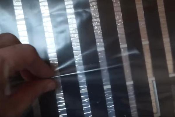 Шаг 2 – монтаж защитного покрытия