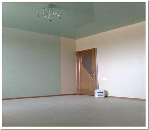 Что сначала - ламинат или натяжной потолок?